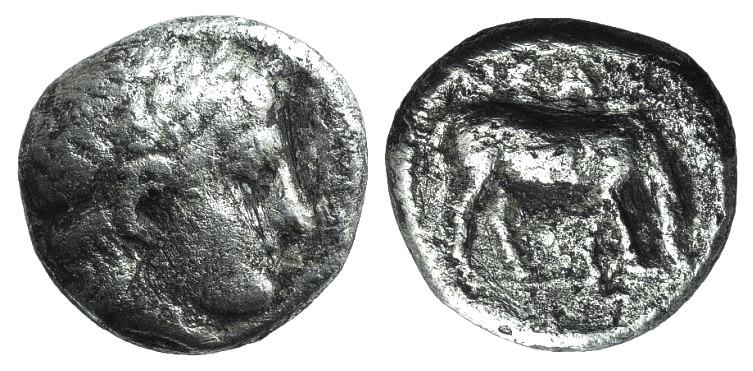 Ancient Coins - Troas, Neandria, c. 4th century BC. AR Drachm  UNPUBLISHED RARE