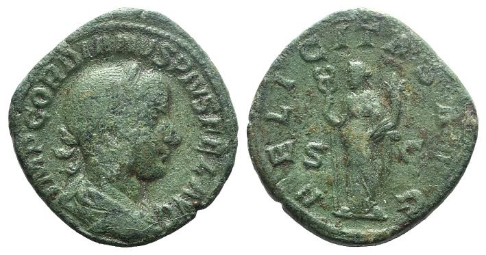 Ancient Coins - Gordian III (238-244). AE Sestertius. Rome, 240-243.  R/ LAETITIA