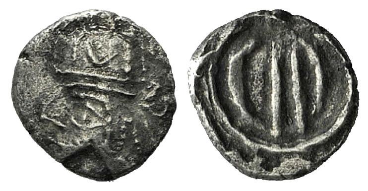 Ancient Coins - Kings of Persis. Uncertain king, 1st century BC – 1st century AD. AR Obol