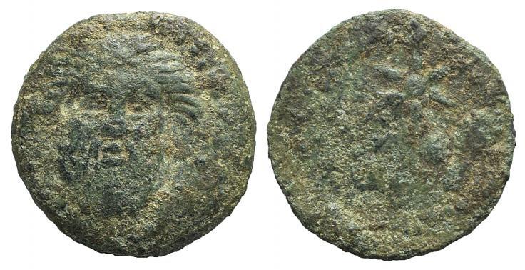 Ancient Coins - Mauretania, Lixus, c. 50-1 BC. AE 20mm RARE