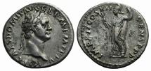 Ancient Coins - DOMITIAN 81-96 AD. AR Denarius. Struck 86/87 AD. R/ MINERVA