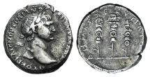 Ancient Coins - ARABIA, Bostra. Trajan. AD 98-117. AR Tridrachm. Struck AD 112-114 R/ Aquila between two signa