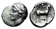 ITALY, Calabria, Tarentum AR Nomos. Campano-Tarentine issue. Circa 281-228 BC.