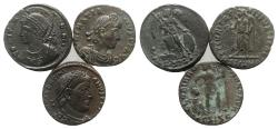 Ancient Coins - Group of 3 Roman Imperial Æ coins, including Commemorative series, Valentinian I and Gratian