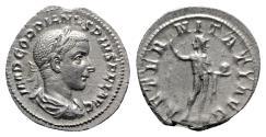 Ancient Coins - Gordian III (238-244). AR Denarius - R/ Sol