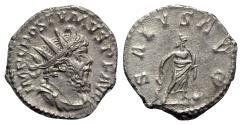 Ancient Coins - Postumus (260-269). AR Antoninianus - Treveri - R/ Salus