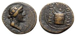 Ancient Coins - Phrygia, Laodicea ad Lycum. Time of Tiberius (14-37). Æ - Pythes Pythou, magistrate