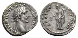Ancient Coins - Antoninus Pius (138-161). AR Denarius - Rome - R/ Vesta