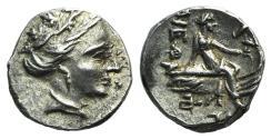 Ancient Coins - Euboia, Histiaia, 3rd-2nd centuries BC. AR Tetrobol  NICE !!