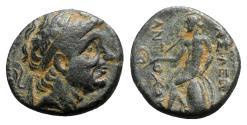 Ancient Coins - Seleukid Kings, Antiochos I (281-261 BC). Æ - R/ Apollo Delphios