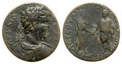 Ancient Coins - Septimius Severus (193-211). Pontus, Amasea. Æ - R/ Caracalla and Geta