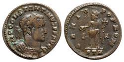 Ancient Coins - Constantine I (Caesar, 306-309). Æ Follis - Treveri - R/ Genius