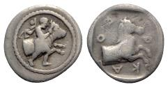 Ancient Coins - Thessaly, Pharkadon, c. 440-400 BC. AR Hemidrachm