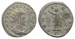 Ancient Coins - Claudius II (268-270). Radiate. Antioch. R/ Serapis
