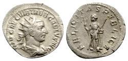 Ancient Coins - Trebonianus Gallus (251-253). AR Antoninianus - Rome - R/ Felicitas