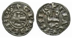 Ancient Coins - CRUSADERS, Principality of Achaea. Guillaume II de Villehardouin. 1246-1278. BI Denier Tournois. Group II. Corinth mint.