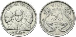 World Coins - Vietnam, 50 Xu 1953