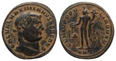 Ancient Coins - Galerius (Caesar, 293-305). Æ Follis. Antioch, 299-300.