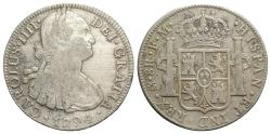 World Coins - Mexico, Carlos IV (1788-1808). AR 8 Reales 1794 FM, Mexico City