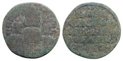 Ancient Coins - Basil I with Constantine and Leo VI (867-886). Æ 40 Nummi