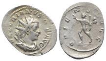 Ancient Coins - Valerian I (253-260). AR Antoninianus. Colonia Agrippinensis, 257-8. R/ SOL