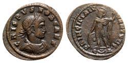 Ancient Coins - Crispus (Caesar, 316-326). Æ Follis - Arelate - R/ Mars