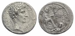 Ancient Coins - SELEUCIS and PIERIA, Antioch. Augustus. 27 BC-AD 14. AR Tetradrachm. Dated year 30 of the Actian Era (2/1 BC).