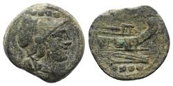 Ancient Coins - ROME REPUBLIC Anonymous, Sardinia, after 211 BC. Æ Triens