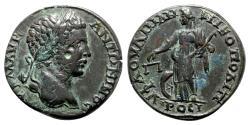 Ancient Coins - Caracalla (198-217). Moesia Inferior, Nicopolis ad Istrum. Æ - R/ Nemesis