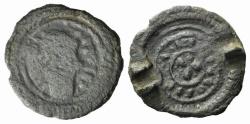 Ancient Coins - Carolingians, Loius the Pious? (814-840). Æ Brooch RARE
