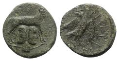 Ancient Coins - Sicily, Panormos, after 190 BC. Æ - Ram with Janus / Eagle