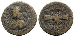 Ancient Coins - Phrygia, Laodikeia, 2nd century AD. Æ - Athena / Clasping hands
