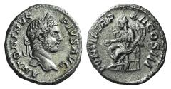 Ancient Coins - Caracalla. AD 198-217. AR Denarius. Rome mint. Struck AD 209. R/ CONCORDIA