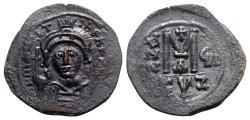 Ancient Coins - Maurice Tiberius (582-602). Æ 40 Nummi - Cyzicus, year 8