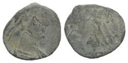 Ancient Coins - Uncertain Emperor. Roman PB Tessera, c. 4th-5th century AD (12mm)  R/ Victory