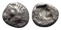 Ancient Coins - Ionia, Uncertain, c. 600-550 BC. AR Hemiobol - Horse head / Incuse