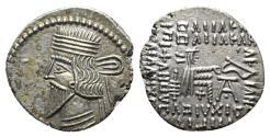 Ancient Coins - Kings of Parthia, Pakoros I (c. AD 78-120). AR Drachm. Ekbatana. R/ Archer (Arsakes I) Extremely Fine