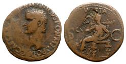 Ancient Coins - Germanicus (died AD 19). Æ As - Rome - R/ Vesta
