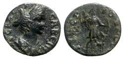 Ancient Coins - Sabina (Augusta, 128-136/7). Phrygia, Tiberiopolis. Æ - R/ Artemis