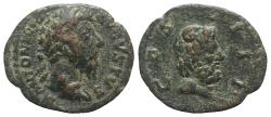Ancient Coins - Marcus Aurelius (161-180). Arabia, Legion III Cyrenaica stationed at Bostra. Æ 18mm R/ Zeus Ammon