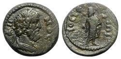 Ancient Coins - Lydia, Dioshieron. Pseudo-autonomous issue, time of the Antonines, c. 138-192. Æ - Demos / Asklepios - RARE