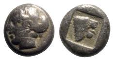 Ancient Coins - Lesbos, Mytilene, c. 480-400 BC. BI Diobol - RARE