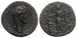 Ancient Coins - Antoninus Pius (138-161). Æ Sestertius - Rome - R/ Salus