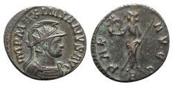 Ancient Coins - Maximianus (286-305). Radiate / Antoninianus - Lugdunum - R/ Pax