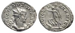 Ancient Coins - Gallienus (253-268). AR Antoninianus. Colonia Agrippinensis, 258-9.  R/ VICTORY Ex Guercheville hoard