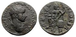 Ancient Coins - Volusian (251-253). Pisidia, Antioch. Æ - R/ Roma seated