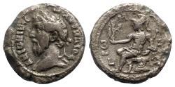 Ancient Coins - Marcus Aurelius (161-180). Egypt, Alexandria. BI Tetradrachm - year 1 - R/ Roma seated