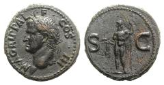 Ancient Coins - AGRIPPA. Died 12 BC. Æ As  R/ NEPTUNE - BOLD PORTRAIT