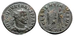 Ancient Coins - Carus (282-283). Radiate - Siscia - R/ Emperor with Jupiter