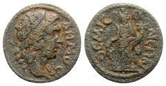 Ancient Coins - Phrygia, Themisonium. Pseudo-autonomous issue, c. 2nd-3rd century AD. Æ - Demos / Tyche - RARE